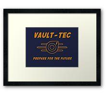 VAULT TEC 1 Framed Print