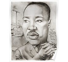 MLK caricature drawing by Sheik Poster