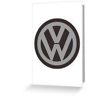 logo vw Greeting Card