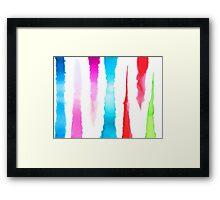 Watercolor Stripes Framed Print