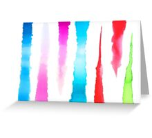 Watercolor Stripes Greeting Card