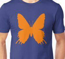 8-bit Simplex pixel Orange butterfly Unisex T-Shirt