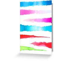 Watercolor Stripe (Horizontal) Greeting Card