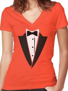 Hilarious Tuxedo Women's Fitted V-Neck T-Shirt