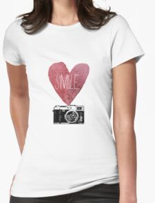 Smile - Photography Love Womens Fitted T-Shirt