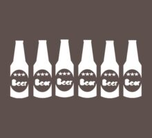Six Pack Beer - Bier T-Shirt - Fitness Drinking Abs Sticker Baby Tee