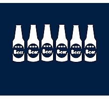 Six Pack Beer - Bier T-Shirt - Fitness Drinking Abs Sticker Photographic Print