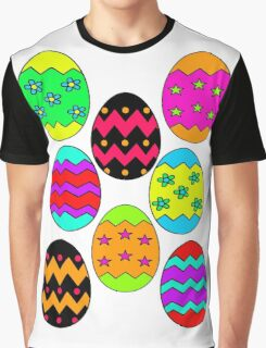 Easter Egg Collage Graphic T-Shirt