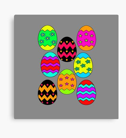 Easter Egg Collage Canvas Print