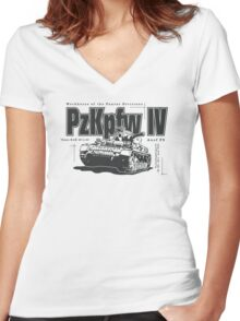 Panzer IV Women's Fitted V-Neck T-Shirt
