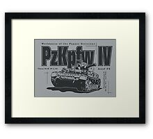 Panzer IV Framed Print