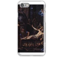 The Martyrdom of St Lawrence by Jean-Baptiste de CHAMPAIGNE,  iPhone Case/Skin