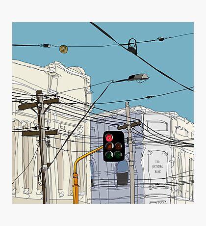 Melbourne Street Scene Photographic Print