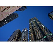 Photography of tall buildings from Dubai, UAE. Photographic Print