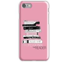 Professional Reader (Baby Pink) iPhone Case/Skin