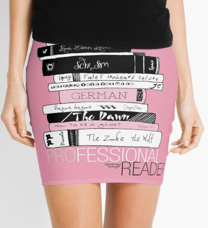 Professional Reader (Baby Pink) Mini Skirt