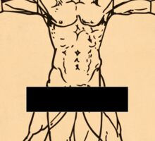 Vitruvian Man Sticker