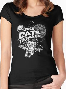 Space Catstronaut Women's Fitted Scoop T-Shirt