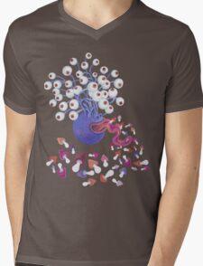 Monster Mushroom Mens V-Neck T-Shirt