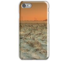Snow-covered meadow iPhone Case/Skin