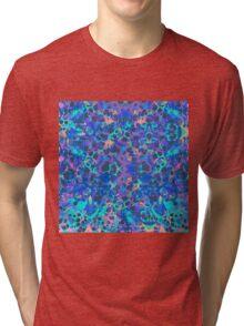 Blue Hip Hop Blob Splash Psychedelic Pattern  Tri-blend T-Shirt