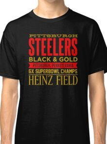 Steelers black and gold Classic T-Shirt