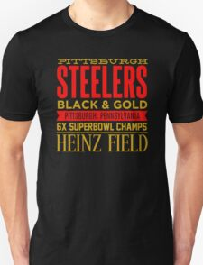 Steelers black and gold Unisex T-Shirt