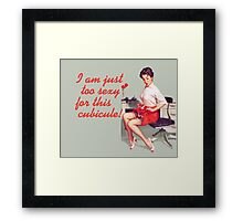 Sexy Office Pin-Up Mouse Pad Framed Print