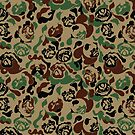 Pug Camouflage by Huebucket