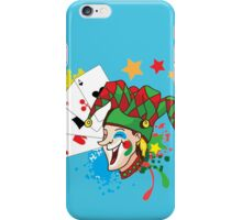 Smiling joker with cards iPhone Case/Skin