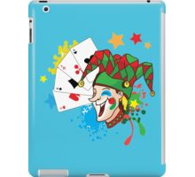 Smiling joker with cards iPad Case/Skin