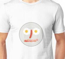 Egg Sausage Bacon Face Retro Unisex T-Shirt