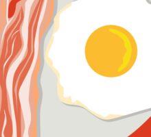 Egg Sausage Bacon Plate Retro Sticker