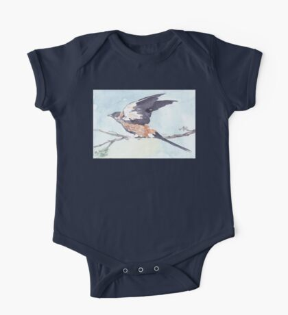 Greater-striped Swallow - (Cecropis cucullata) One Piece - Short Sleeve