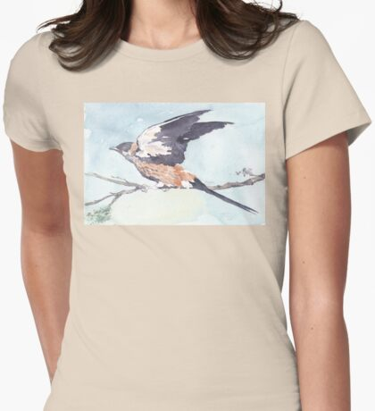 Greater-striped Swallow - (Cecropis cucullata) Womens Fitted T-Shirt
