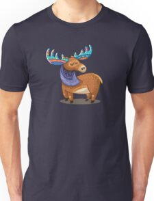 Rainbow Moose Unisex T-Shirt