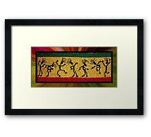 og lively reggae dancers Framed Print