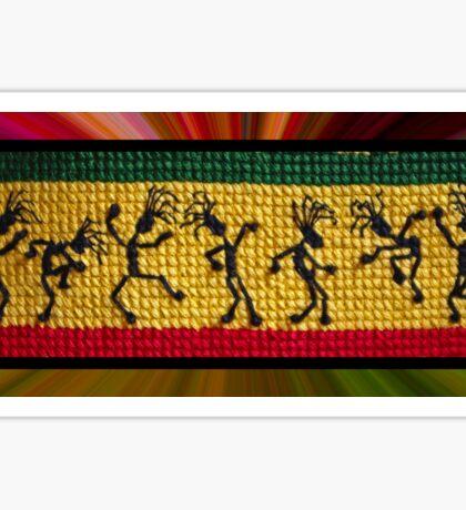 og lively reggae dancers Sticker