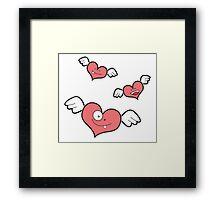 little heart monsters Framed Print