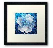 Geometric Ice Flower Framed Print