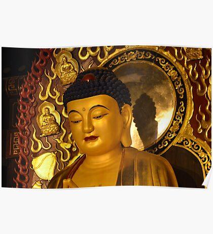 Asia Golden Buddha Poster