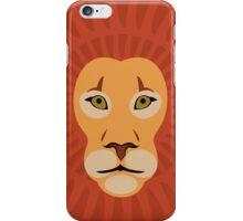 Flat cartoon lion iPhone Case/Skin