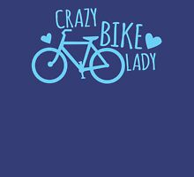 Crazy Bike Lady Womens Fitted T-Shirt