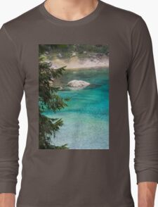 landscape of  blue lake in the mountain Long Sleeve T-Shirt