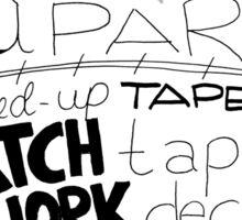 Tape Deck Heart Sticker