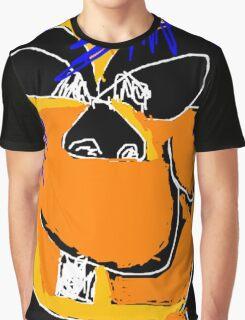 Cartoon Face Graphic T-Shirt