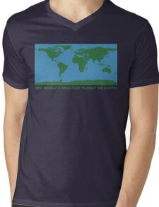 The World's Greatest Planet On Earth - ONE:Print Mens V-Neck T-Shirt