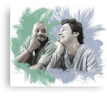 Turk & JD Bromance Canvas Print