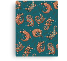 Ethnic geckos Canvas Print