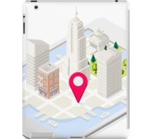 NYC Buildings Map on Tablet iPad Case/Skin